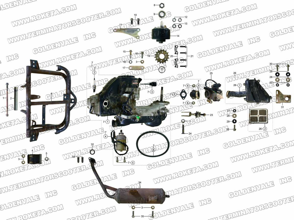 go kart engine diagram domestic wiring symbols uk 50cc chinese atv get free image
