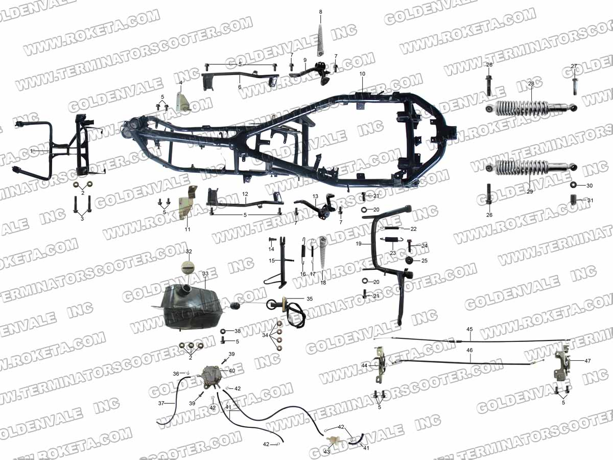 eagle 100cc atv wiring diagram