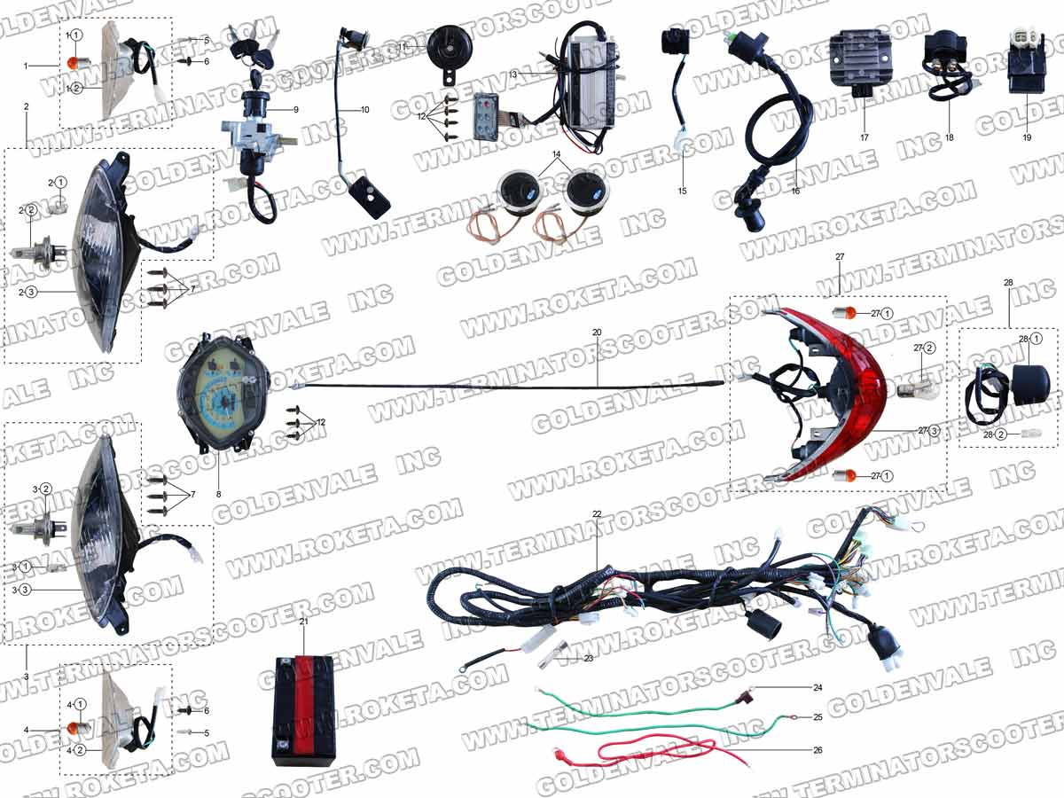 hight resolution of terminator scooter wiring diagram terminator es 04 scooter 43cc gas scooter wiring diagram terminator electric scooter
