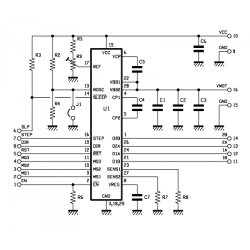 Stepper Motor Driver- Based on the Allegro A4988 chip