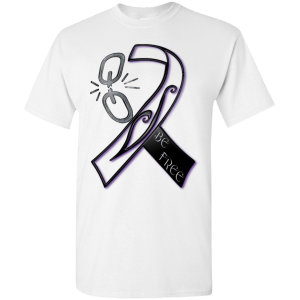 Recovery Ribbon Tattoo Design T-Shirt