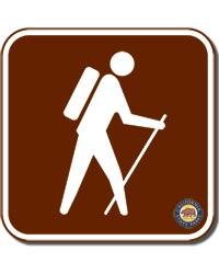 Hike Sign Square Magnet