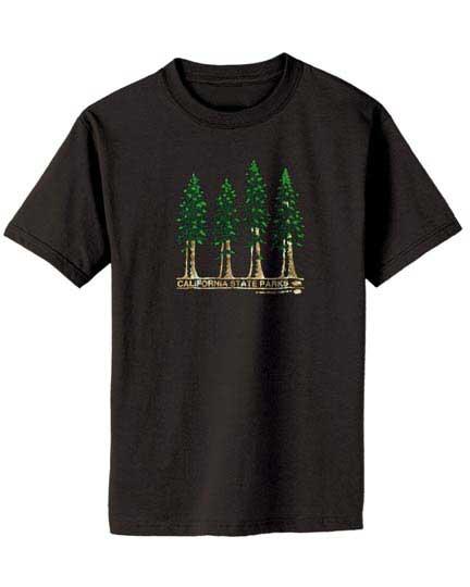 100% Organic Redwoods T-shirt Black-1131
