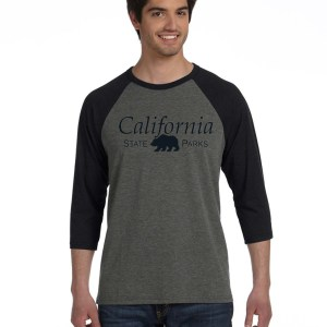 Mens 3/4 Sleeve T-Shirt, GRY/CHAR-BLK