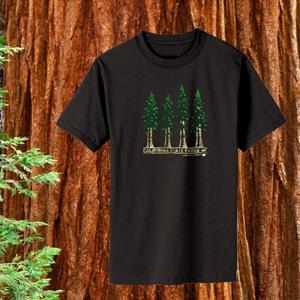 100% Organic Redwoods T-shirt Black-0