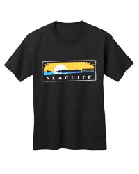 This t-shirt is adorned with artwork created for Friends of Santa Cruz State Parks by Michael Schwab capturing the most curious and well-loved feature of this Aptos park in this colorful image. The S.S. Palo Alto, built from concrete during World War I, h