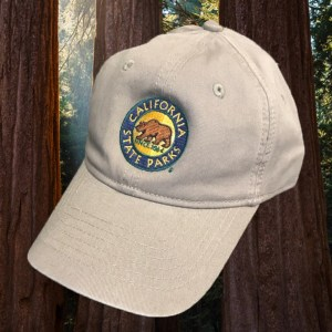 California State Parks Embroidered Baseball Hat, Stone
