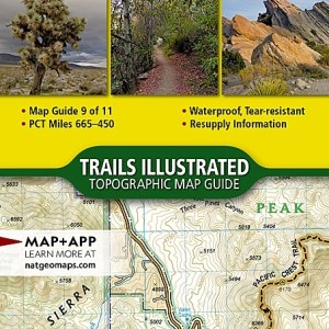 Nat Geo PCT: Scodie, Piute, and Tehachapi Mountains [Walker Pass to Vasquez Rocks] Map 9 of 11