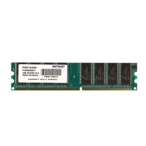 memoria ddr 1gb pc-3200 400mhz cl3 patriot  psd1g400