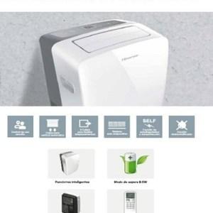 aire acondicionado portatil hisense frio y calor clase a 3010 frig ap-12dr4sfjs