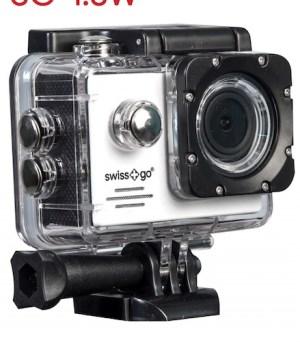 camara video  swiss-go deportiva sg-1.8w full hd wifi + accesorios roja