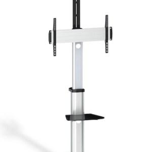 soporte de suelo con rueda tv 37-70 negro tooq fs1870m-b
