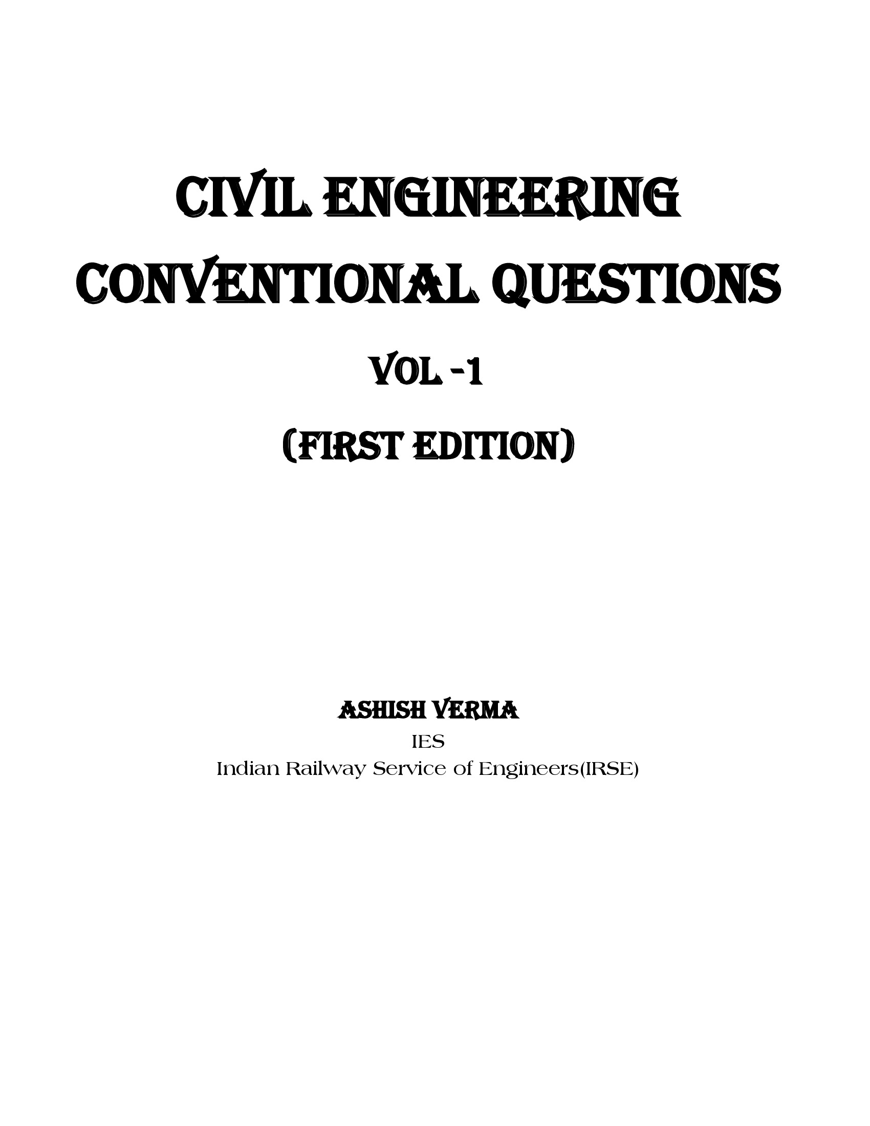 HANDBOOK OF CIVIL ENGINEERING QUESTIONS WITH SOLUTIONS BY