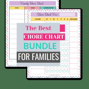 printable family chore charts