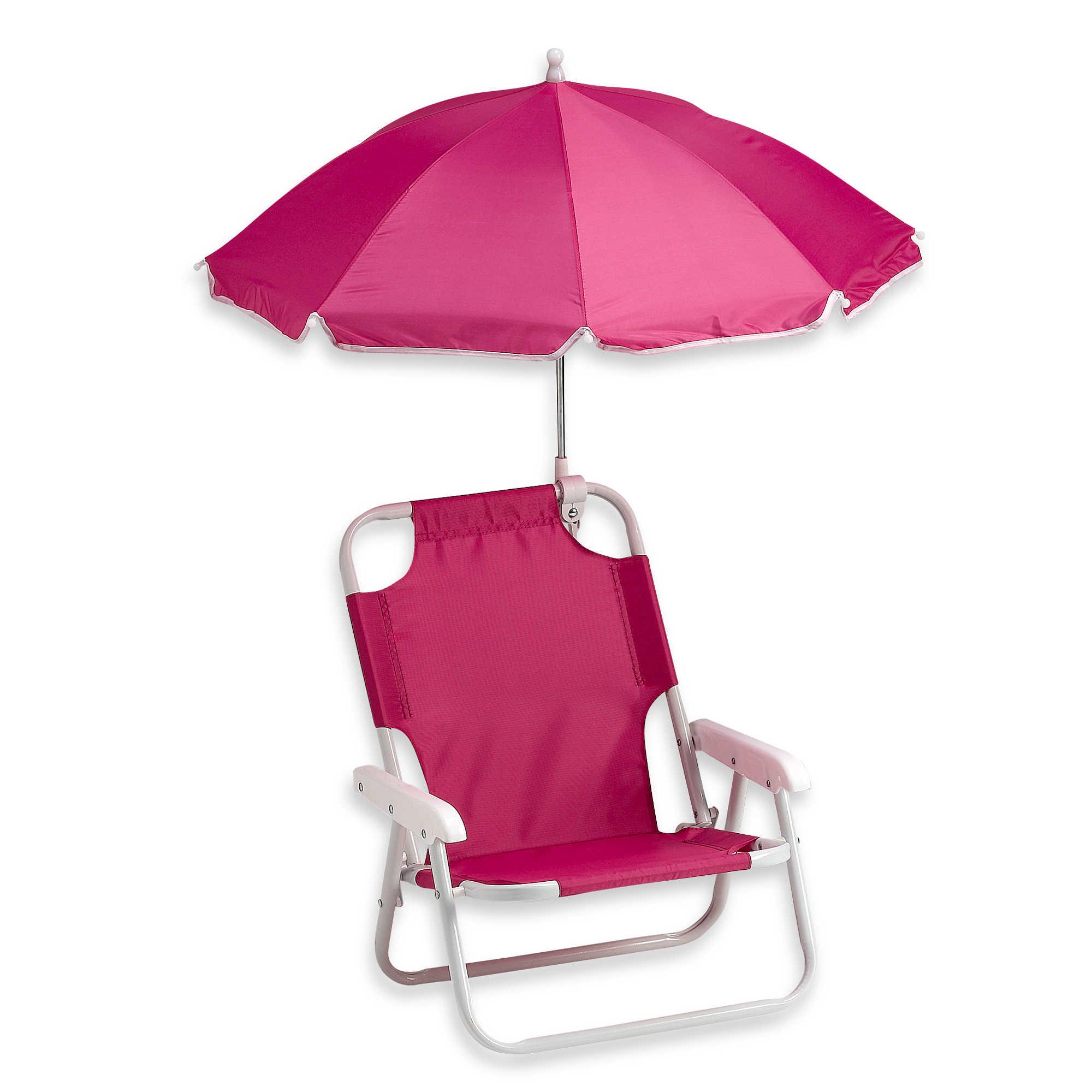 Folding Beach Chair with Umbrella  Purple Pumpkin Gifts
