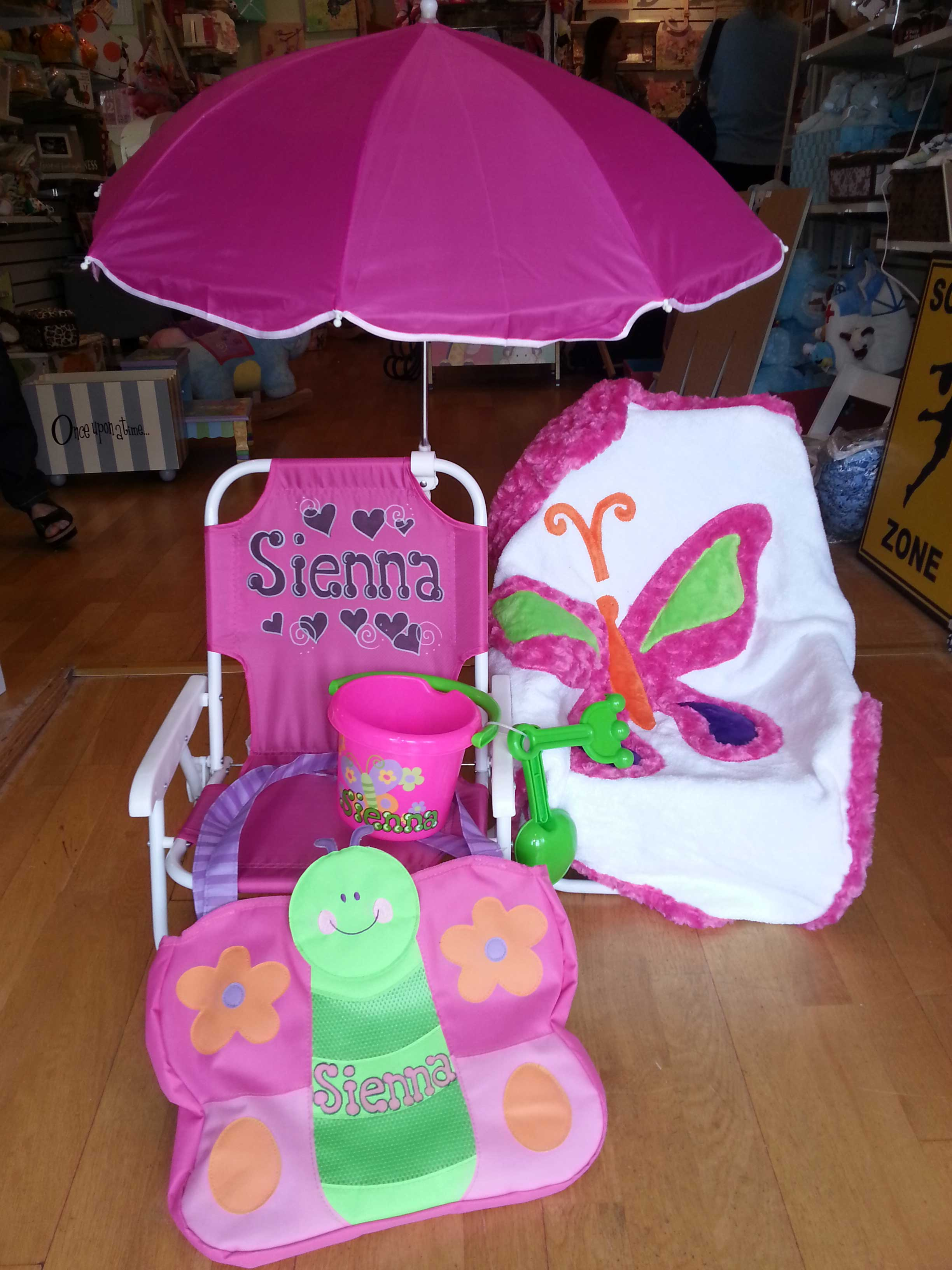 toddler beach chair personalized collins barber chairs folding with umbrella purple pumpkin gifts