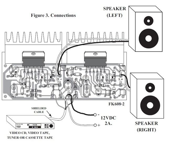 FK608 15 Watt Stereo Power Amplifier Kit QKits Electronics