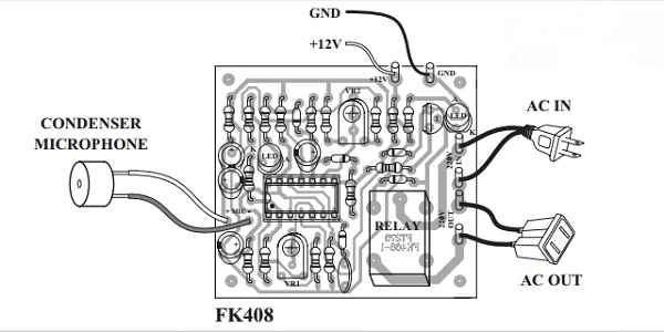 Sound Activated Switch Kit Delay Off FK408 QKits