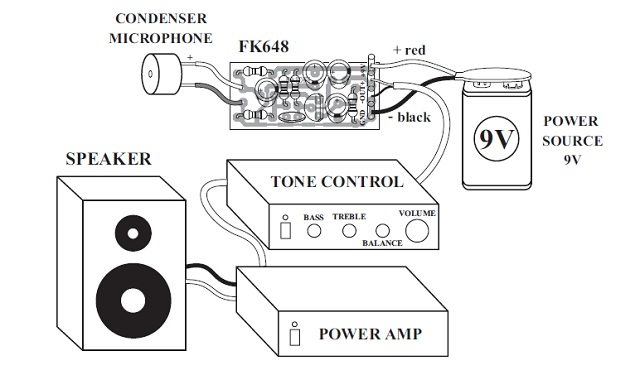 Condenser Microphone Kit with Pre-Amp Quality Electronics