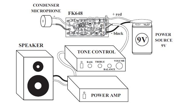 Mic Condenser Amplifier Schematic Design