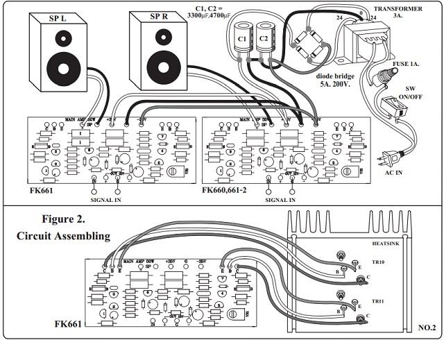 50 Watt Stereo Power Amp Kit FK661 QKits Electronics Store
