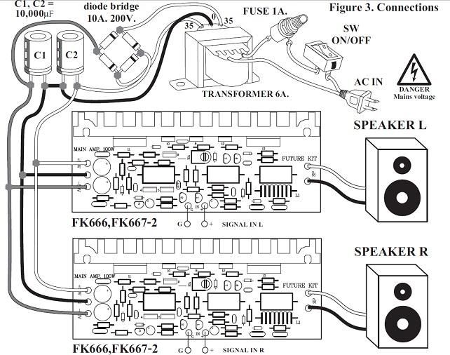 100 Watt Stereo Power Amplifier Kit FK667 QKits