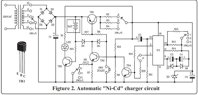 automatic aa nicad battery charger with 4541