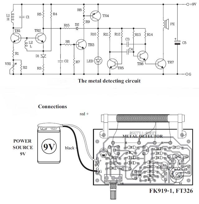 Metal Detector Kit FK915 QKits Electronics Store Kingston