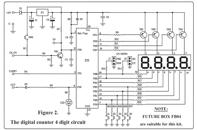 4 Digit UP DOWN Counter Kit Quality Electronics Store