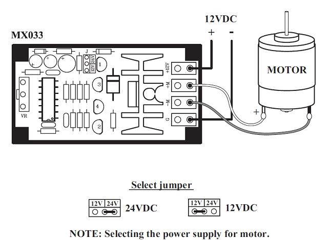 PWM DC Motor Speed Control Module MXA033 QKits Electronics