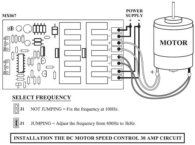 30 Amp Adjustable Pulse Width Modulator Speed Control