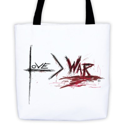 Love is Greater than War – Tote bag