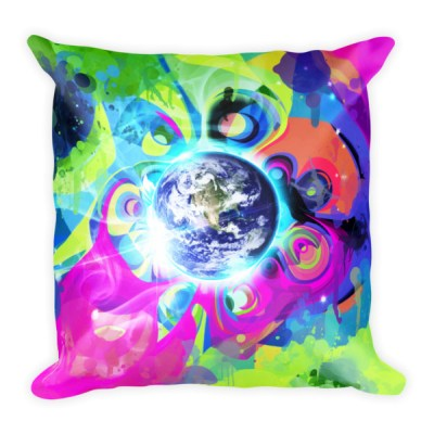 Good Morning – trippy design square pillow