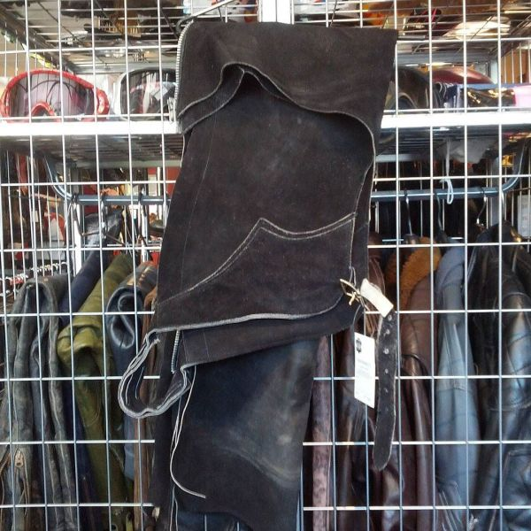 """MAYNARD'S Leather Suede Riding Chap CHAPS ( Thigh Circumf. Size 24"""" )"""
