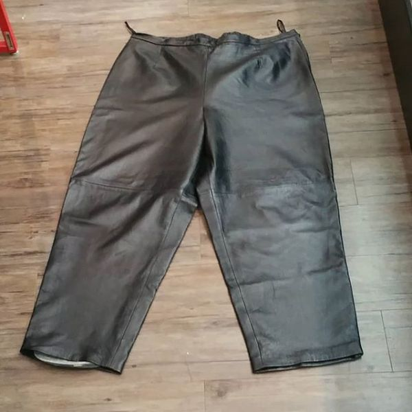 TERRY LEWIS Leather Fashion PANTS 18174 ( Size 40 )