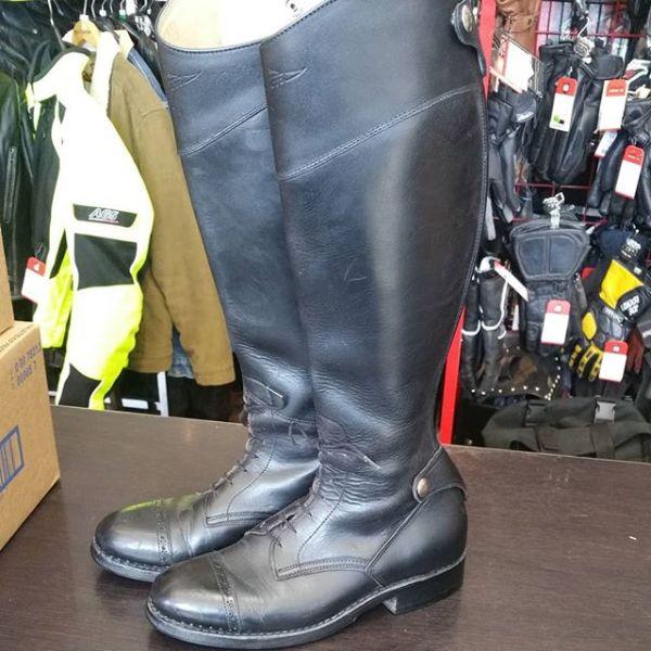 DAYTON Leather Police Moto BOOTS 19877