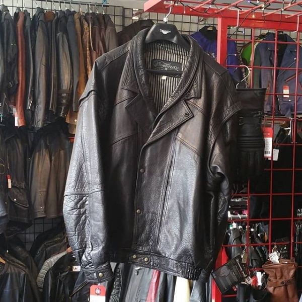 "LEATHER RANCH Leather BOMBER PLUS JACKET 20244 ( Size XXL 50"" )"