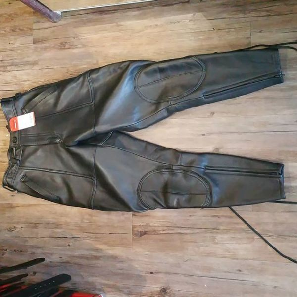"Hein Gericke Leather Police PANTS 20843 ( Size 28"" )"