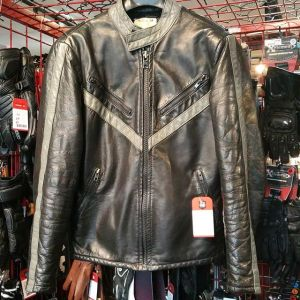 WOLFF Leather Cafe Racer JACKET 21279 ( Size 40 tall )