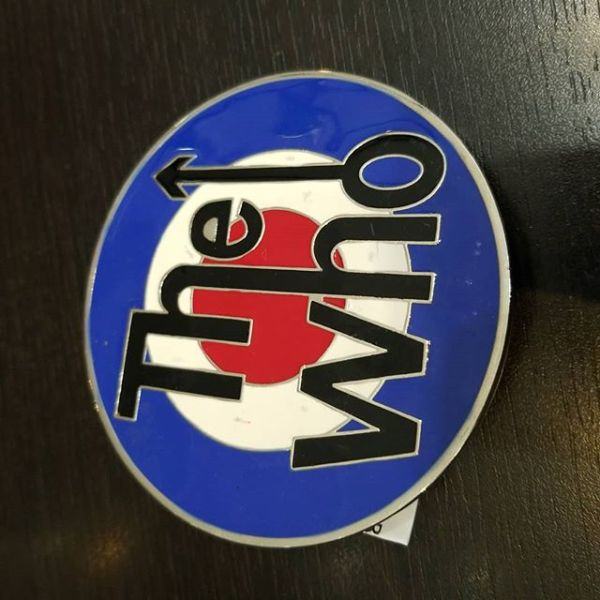THE WHO Metal BELT BUCKLE ACCESSORY 21924 ( Size round )