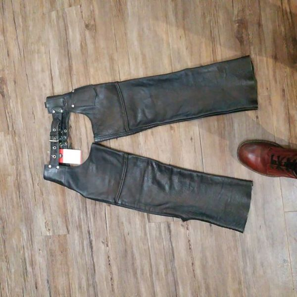 "UNIK Leather Riding CHAPS ( Thigh Circumf. Size 8 kids 16"" )"