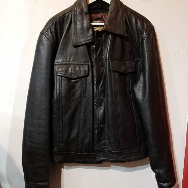 JAMIN LEATHER Leather Trucker JACKET 22791 ( Size 46 )