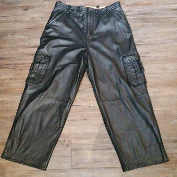 WILSONS LEATHER Leather Cargo PANTS 22793 ( Size 38 )