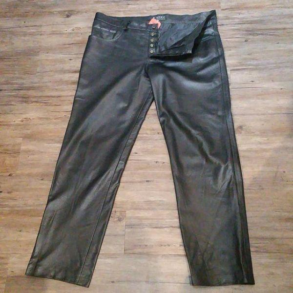 Kookie Leather Jeans PANTS 22797 ( Size 42 )