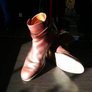 HARROD'S OF LONDON Leather Jodhpur BOOTS 22928