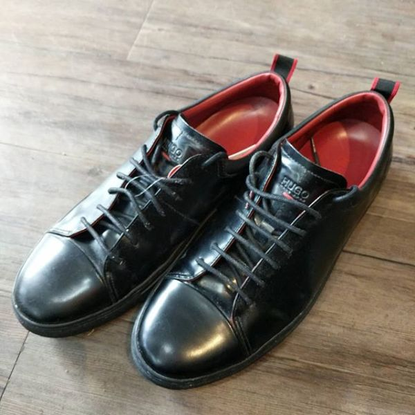 HUGO BOSS Leather Sneakers SHOES 23047 ( Size 44 )