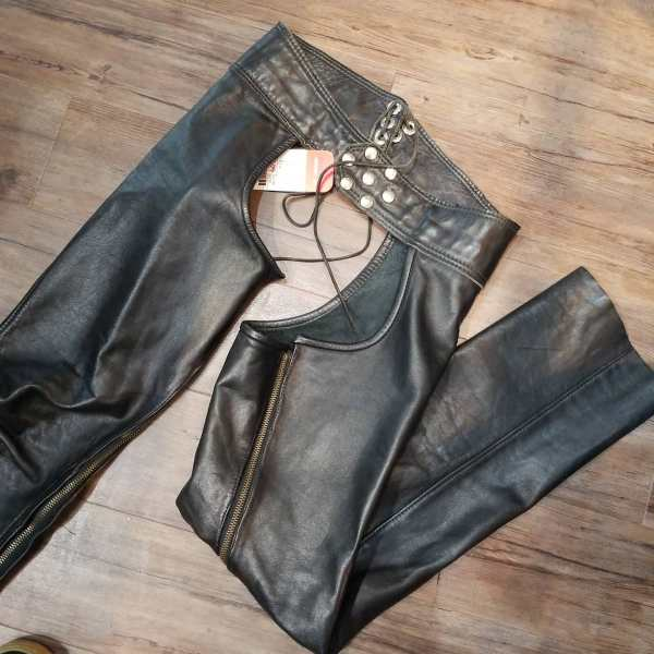 """Leather Forever Leather Bar chaps ( Size 20"""" thigh )"""