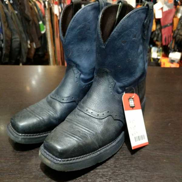 JUSTIN Leather Western BOOTS   24315