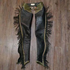 "WHOLE BIT Leather Western CHAPS ( Thigh Circumf. Size 18"" )"