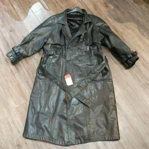Vintage Leather Trench JACKET   24951